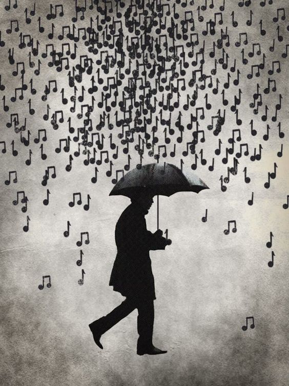 notes in the rain: