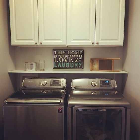 small laundry room makeover our house pinterest the