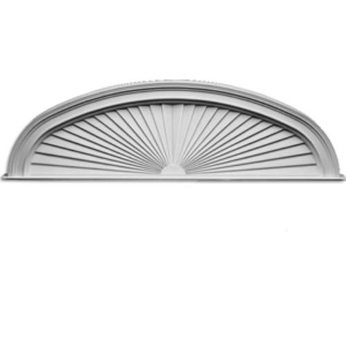 Fypon pediment elliptical sunburst with trim at menards for Fypon window pediments