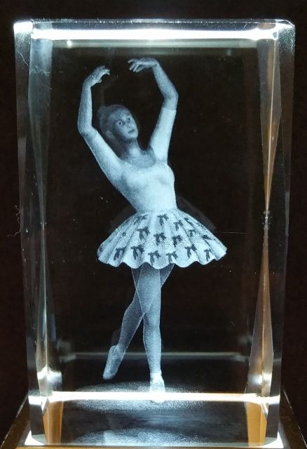 Ballerina 2 - Generic 3D Crystals - Ovid Gifts