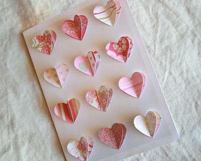 The Creative Place: DIY 3-D Heart Valentine Card
