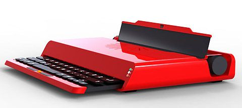 Laptop based on Ettore Sottsass' Valentine Typewriter.