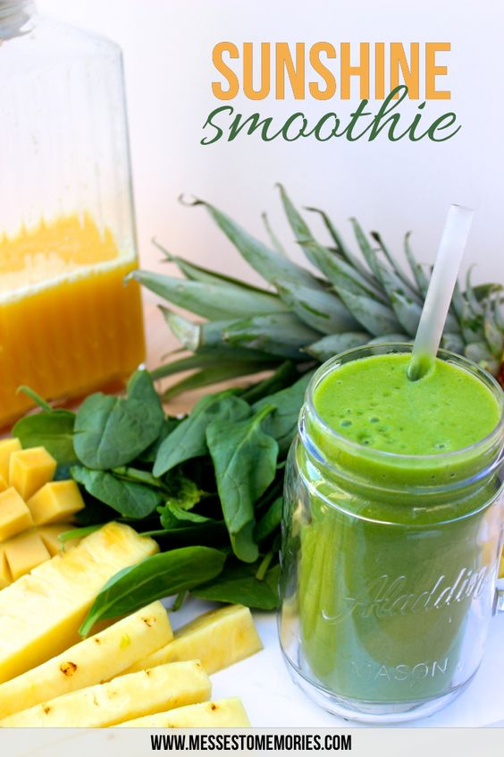 Sunshine Smoothie for a Happy Day from Messes to Memories