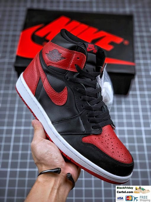 High Quality Nike Air Jordan 1 Retro High Sneakers Black Red In 2020 Air Jordans Jordans Jordan 1 Black
