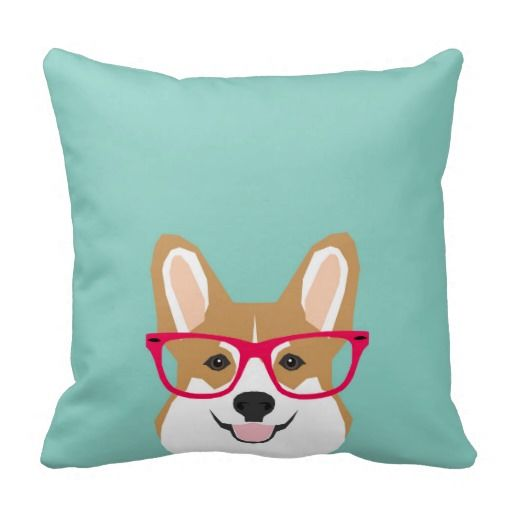 Corgi with Glasses - Hipster Dog, Cute Corgi GIft: