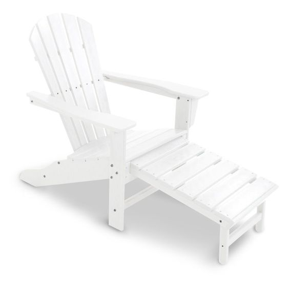 Outdoor Adirondack Chair: Polywood Recycled Plastic Big Daddy Adirondack  Chair With Pull Out Ottoman   CXHNA15TE | Big Daddy And Products