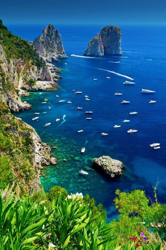 Capri,Italy - the inspiration for the brand name (sul mare means by the sea) and I pictured Capri!