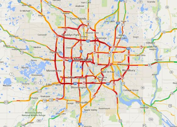 Traffic Map Minneapolis
