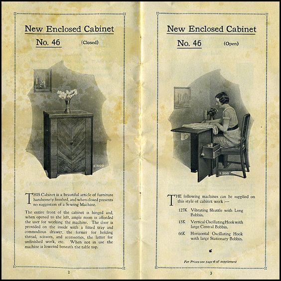 Singer UK catalogue for 1933 pp 2 and 3