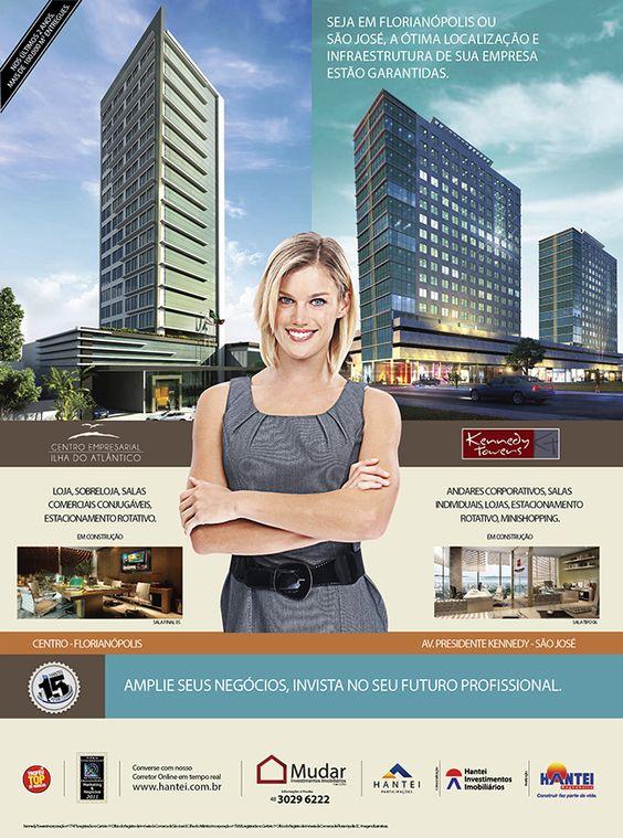 Imóveis comerciais no Centro de Florianópolis e em Campinas, São José.