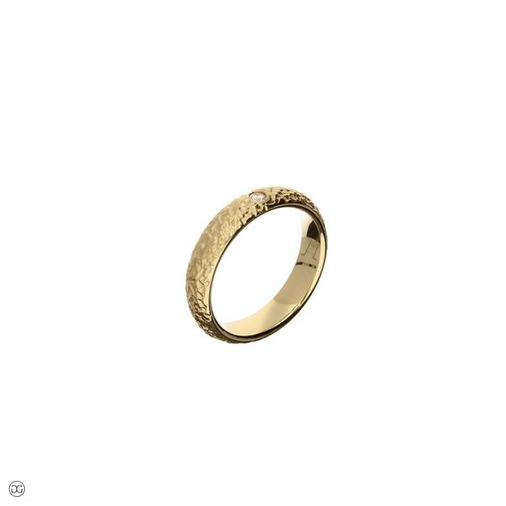 wedding ring gold diamond 0,04ct