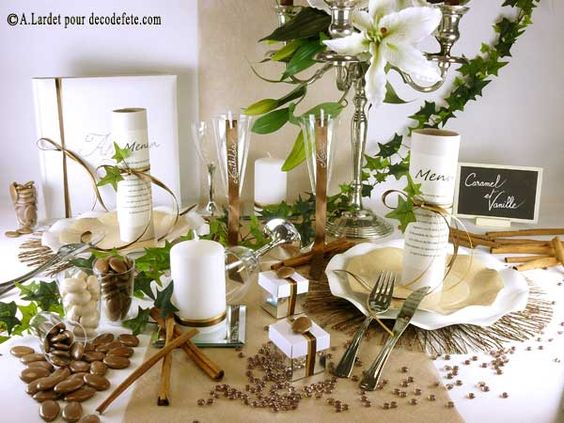 Mariage bapteme communion d coration de tab - Decoration de table nature ...