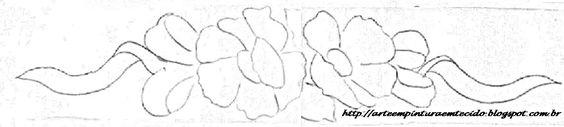Resultado de imagem para risco de rosas para toalha de mão