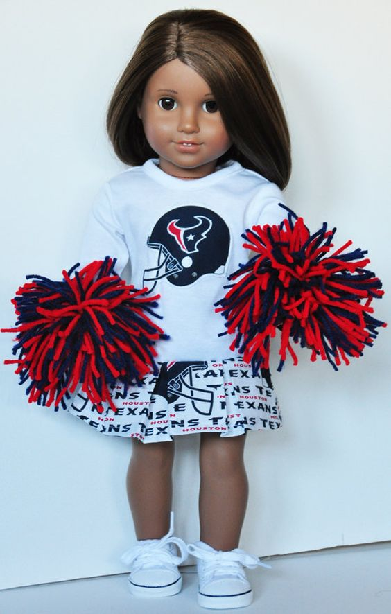 American Girl Clothes - Houston Texans Cheerleader Outfit on Etsy, $30.00