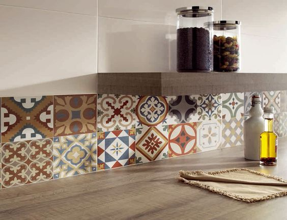 Interiores google and cer mica on pinterest for Azulejos hidraulicos cocina