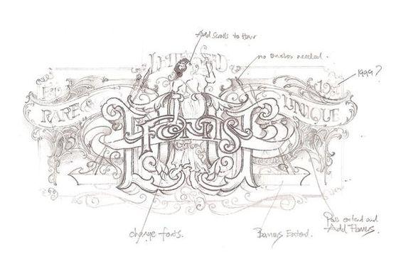 Font sketch first art