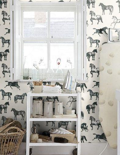 Equestrian Decor, horse wallpaper