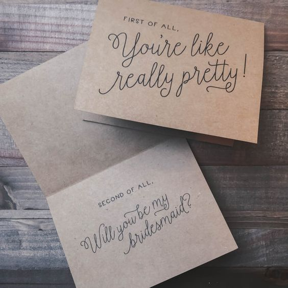 Funny Bridesmaid Proposal Card Bridal Party Maid by ElleLaneDesign:
