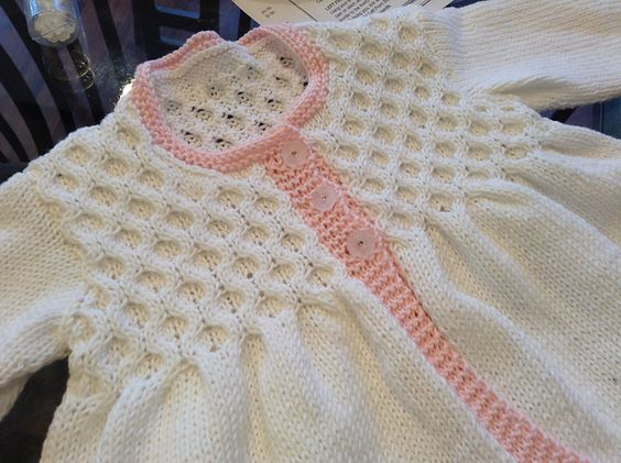 Ravelry: Project Gallery for Little vintage smock frock cardie and coat pattern by Sublime Yarns