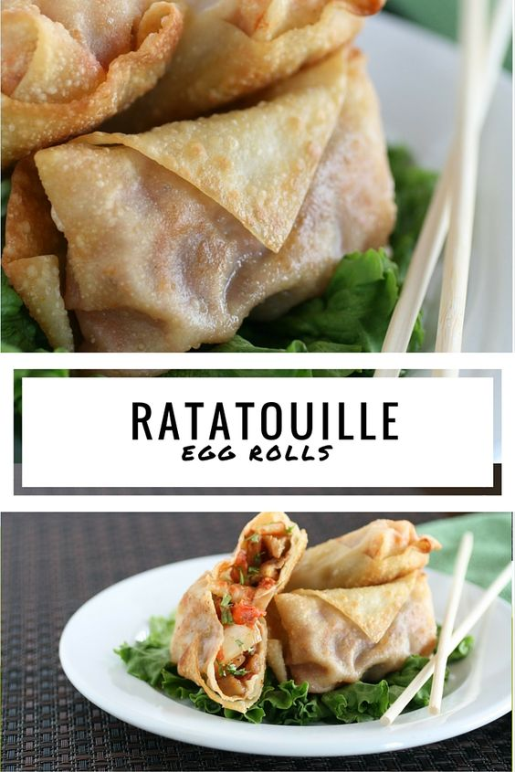 BakeSaleBoss.com Ratatouille Egg Rolls, the combination will have your taste buds dancing.
