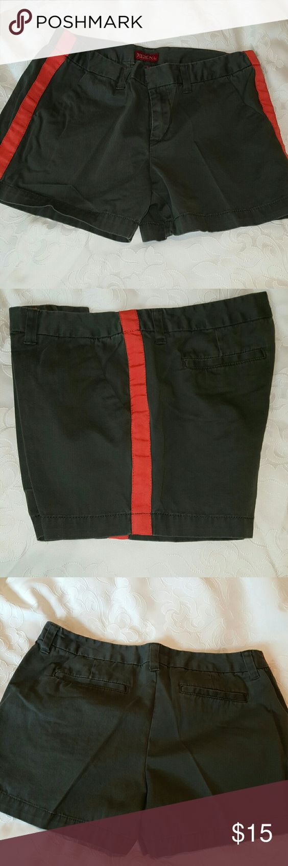 Merona shorts Never worn.   Very unique.  They are khaki and orange. Merona Shorts