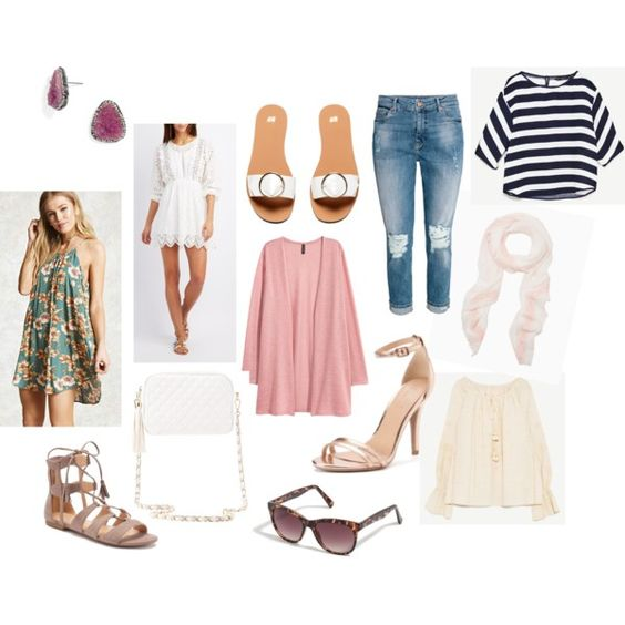 A fashion look from April 2017 by serdarsa featuring Charlotte Russe, Forever 21, H&M, LC Lauren Conrad, BaubleBar and J.Crew: