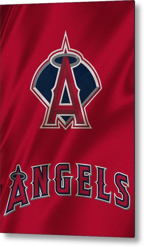 Los Angeles Angels Metal Print By Joe Hamilton In 2020 Los Angeles Angels Baseball Wallpaper La Angels Baseball