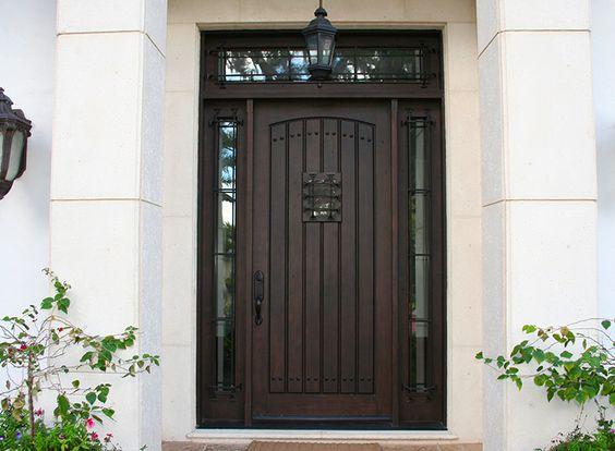 Neat front door with speakeasy opening