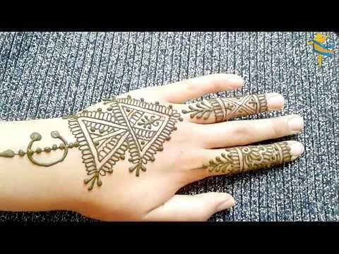 النقش المغربي الخلخالة او الخلال للاعراس و المناسبات نقش بالحناء مغربي اصيل Youtube Henna Hand Tattoo Simple Mehndi Designs Hand Tattoos