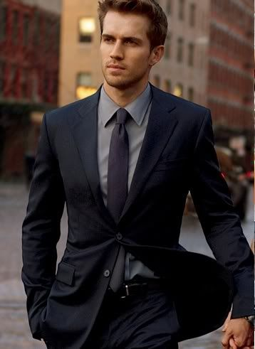 Navy suit inspiration. Where do you find great suits on a student