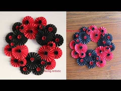 2 Paper Flower Wall Hanging 6 Diy Hanging Flower Wall