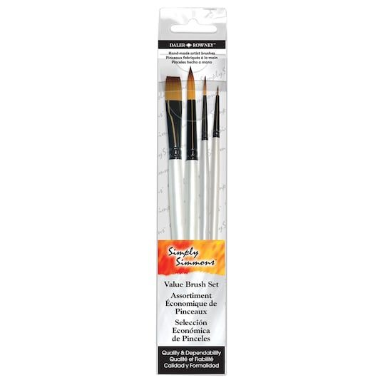Daler Rowney Simply Simmons Watercolor Synthetic Brush Set