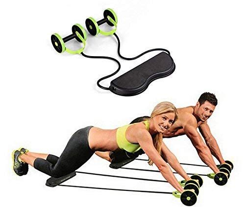 True Shop Foldable Revoflex Xtreme Rally Multifunction Pull Rope Wheeled Health Abdominal Muscle Training Workout Machines No Equipment Workout Muscle Training