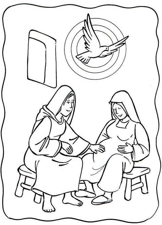 elizabeth bible coloring pages - photo#3