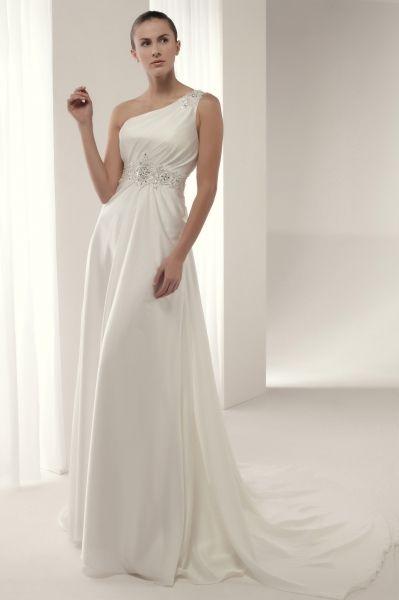 vestido de #novia #innovias modelo azusa en satén con adorno de