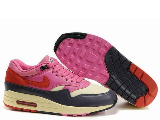 Fake Womens Nike Air Max 1 80\u0026#39;S Ski Crystal Pack Alabaster Dragon Red Abyss Shoes $38.98