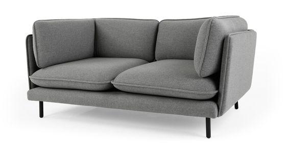 Wes 2-Sitzer-Sofa, Signalgrau