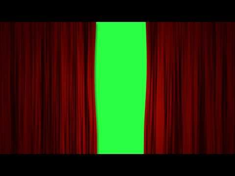 curtain green screen intro red