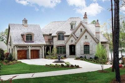Plan 17528lv Stone And Brick French Country Home Plan French Country House French Country House Plans Country House Plans