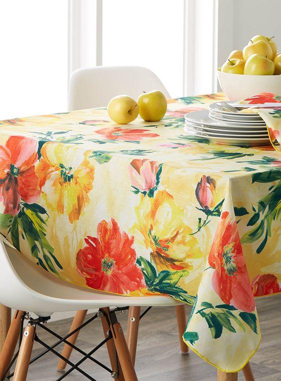 La nappe tableau floral | Simons