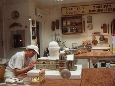 Szentendre - making marzipan at Marzipan Museum (Szabó Marcipán Múzeum):