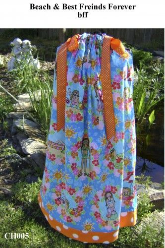 Beach and Best Friends Forever-bff - Pillowcase Dress - Sizes 3 months