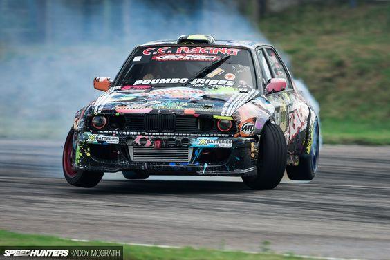 Bmw Series Drift Car All Four Corners In The Air The
