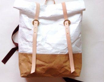 Conjunto de bolso de compras: Tyvek y Kraft papel por Belltastudio