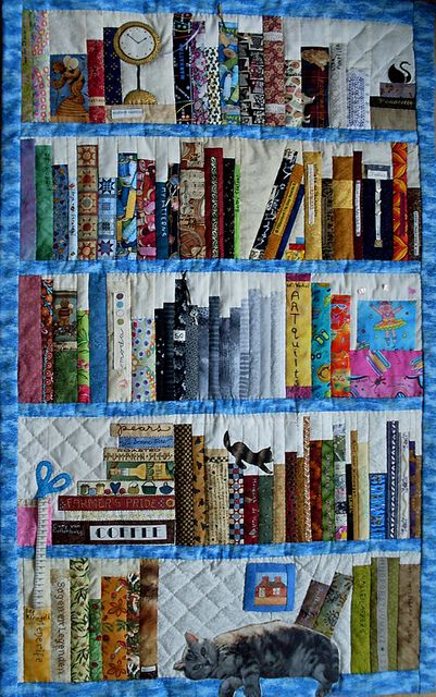 Wonderful bookcase quilt! Why don't I have one of these yet???? Guess quilt making should be my next learning adventure.