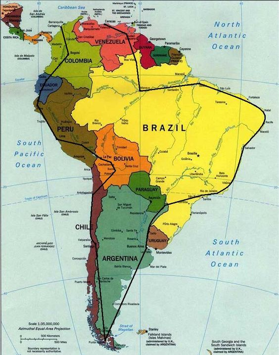 South America Travel Route destination when the girls are grown – Mexico Travel Destinations Map