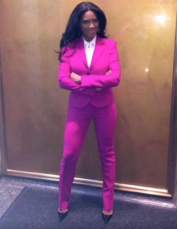 Kenya Moore Escada Pink Suit
