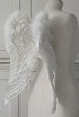 With my white dress, get some wings and be an angel or a fairie