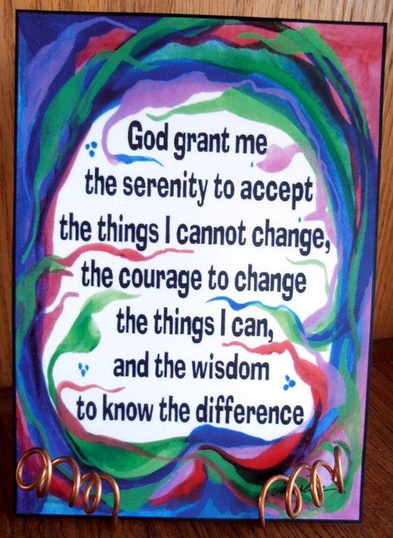 God Grant Me Serenity Prayer Inspirational Quote