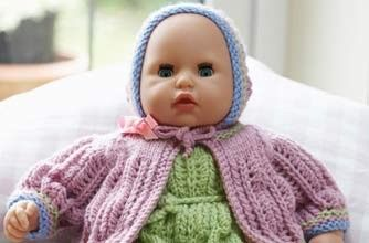 Knit your own doll's clothes pattern